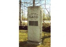 Professori Pietari Adrian Gaddin muistomerkki