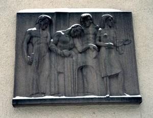 Tampereen ammattikoulun seinäreliefi